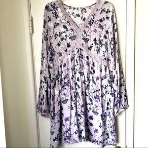 Boho 💜 Floral Dress